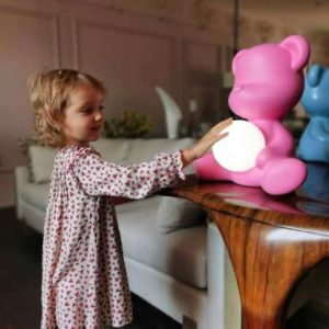 Teddy Girl Lamp With Rechargeable Led